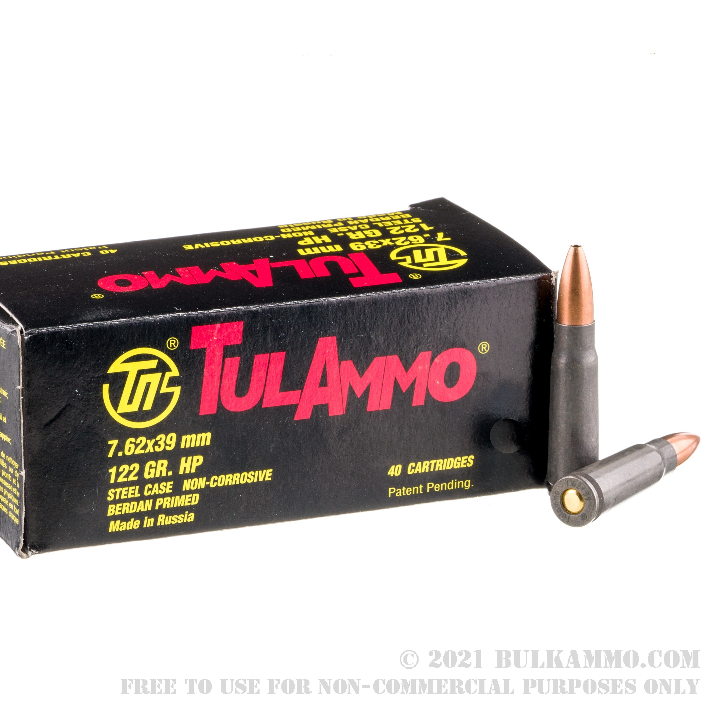 1000 Rounds Of Bulk 7 62x39mm Ammo By Tula 122gr Hp