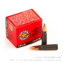 1080 Rounds of 7.62x39mm Ammo by Red Army Standard - 123gr FMJ