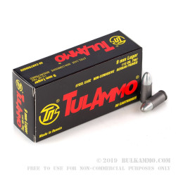 500 Rounds of 9mm Ammo by Tula - 115gr FMJ