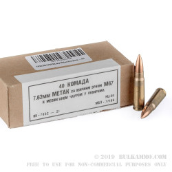 1120 Rounds of 7.62x39mm Ammo Yugoslavian Military Surplus - 123gr FMJ