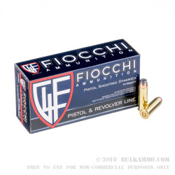 500 Rounds of .44 Mag Ammo by Fiocchi - 240gr SJHP