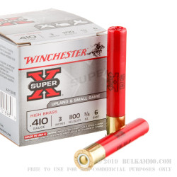 """250 Rounds of .410 3"""" Ammo by Winchester -  #6 shot"""