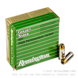 25 Rounds of .40 S&W Ammo by Remington - 180gr JHP