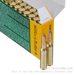 20 Rounds of .308 Win Ammo by Sellier & Bellot - 180gr SP