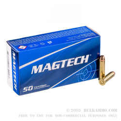 50 Rounds of .357 Mag Ammo by Magtech - 125gr FMJ FN