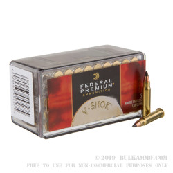 50 Rounds of .17HMR Ammo by Federal - 17gr Polymer Tipped