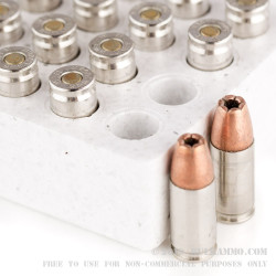 20 Rounds of 9mm Ammo by Winchester W Train and Defend - 147gr JHP