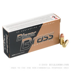 1000 Rounds of .40 S&W Ammo by Blazer Brass - 165gr FMJ