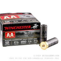 """25 Rounds of 12ga 2-3/4"""" Ammo by Winchester - 1 1/8 ounce #7 1/2 shot"""