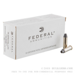 50 Rounds of .38 Spl +P Ammo by Federal - 158gr LSWCHP