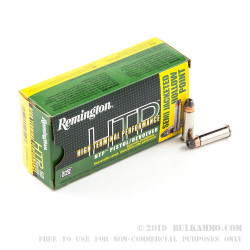 500 Rounds of .38 Spl + P Ammo by Remington HTP - 125gr SJHP