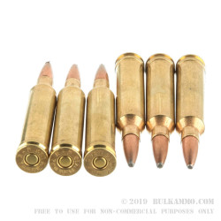 20 Rounds of 7 mm Rem Mag Ammo by Remington - 150gr PSP