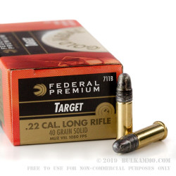 5000 Rounds of .22 LR Ammo by Federal Gold Medal - 40gr LRN