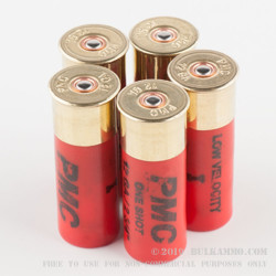 5 Rounds of 12ga LV LE Ammo by PMC - 00 Buck