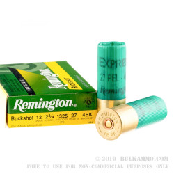 5 Rounds of 12ga Ammo by Remington Express -  #4 Buck