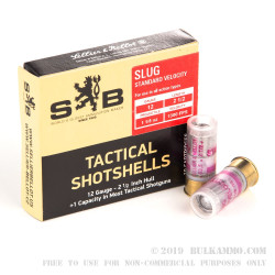 "10 Rounds of 12ga 2-1/2"" Ammo by Sellier & Bellot - 1 1/8 ounce Slug"