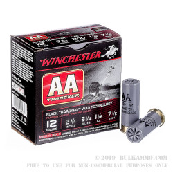 "25 Rounds of 12ga Ammo by Winchester AA TrAAcker - 2-3/4"" 1 1/8 ounce #7-1/2 shot"