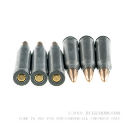 1000 Rounds of .223 Rem Ammo by Tula - 55gr Brass FMJ
