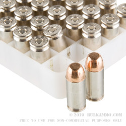 50 Rounds of .40 S&W Ammo by Independence - 180gr FMJ
