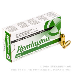 50 Rounds of .40 S&W Ammo by Remington - 180gr MC