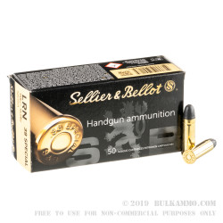 50 Rounds of .38 Spl Ammo by Sellier & Bellot - 158gr LRN