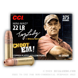 375 Rounds of .22 LR Ammo by CCI Swamp People Edition - 36gr CPHP