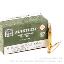 1000 Rounds of 5.56x45 Ammo by CBC - 55gr FMJ