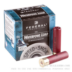 """250 Rounds of 12ga 3-1/2"""" Waterfowl Ammo by Federal - 1 3/8 ounce #2 Shot (Steel)"""