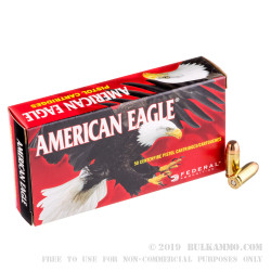 1000 Rounds of .40 S&W Ammo by Federal - 155gr FMJ