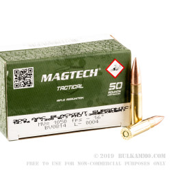 50 Rounds of .300 AAC Blackout Ammo by Magtech - 200gr FMJ