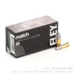 50 Rounds of .22 LR Ammo by Eley Match - 40gr LRN