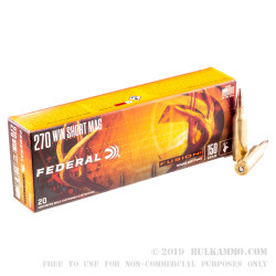 20 Rounds of .270 Win Ammo by Federal - 150gr Fusion Fusion