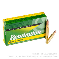 20 Rounds of 30-06 Springfield Ammo by Remington - 220gr SP