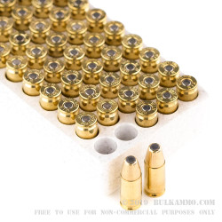50 Rounds of 9mm Ammo by Winchester - 115gr BEB
