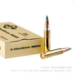 20 Rounds of M855 5.56x45 Ammo by Prvi Partizan - 62gr FMJ