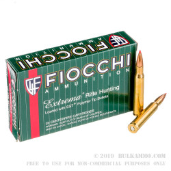 20 Rounds of 30-06 Springfield Ammo by Fiocchi - 180gr SST JHP