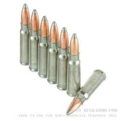 20 Rounds of 7.62x39mm Ammo by Silver Bear - 125gr SP