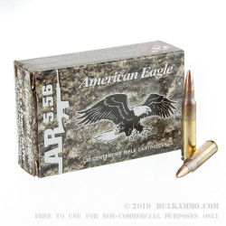 30 Rounds of 5.56x45 Ammo by Federal American Eagle - 55gr FMJBT