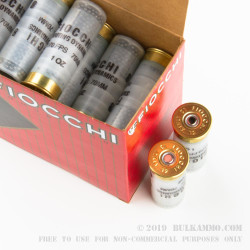 """25 Rounds of 12ga Ammo by Fiocchi - 2-3/4"""" 1 ounce #8 shot"""
