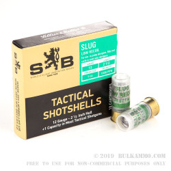 """250 Rounds of 12ga 2-1/2"""" Ammo by Sellier & Bellot - 1 ounce Rifled Slug"""