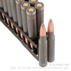 500 Rounds of 30-06 Springfield Ammo by Wolf Military Classic - 168gr SP
