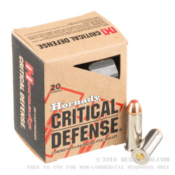 20 Rounds of .44 S&W Spl Ammo by Hornady - 165gr JHP Critical Defense