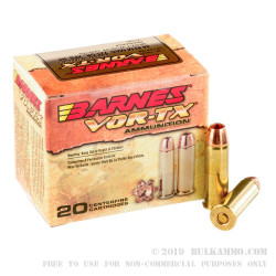 200 Rounds of .44 Mag Ammo by Barnes VOR-TX - 225gr XPB HP