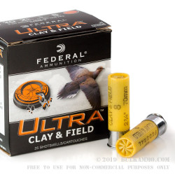25 Rounds of 20ga Ammo by Federal Ultra - 7/8 ounce #8 shot