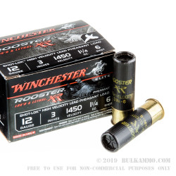 15 Rounds of 12ga Ammo by Winchester - 1 1/4 ounce #6 shot