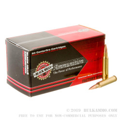 1000 Rounds of .223 Ammo by Black Hills Ammunition - 77gr Sierra Matchking HP
