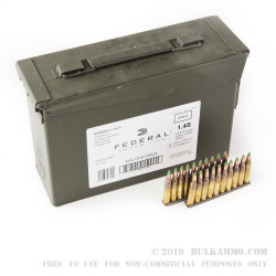 420 Rounds of 5.56x45 Ammo by Federal - 62gr FMJ XM855 on Stripper Clips in Cans