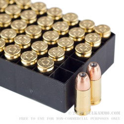 50 Rounds of 9mm Ammo by PMC - 115gr JHP