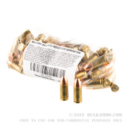 1000 Rounds of 9mm Ammo by MBI - 124gr FMJ