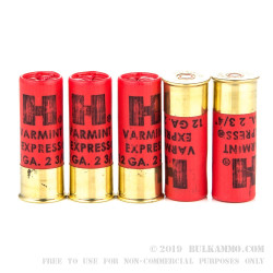 10 Rounds of 12ga Ammo by Hornady Varmint Express -  #4 Buck